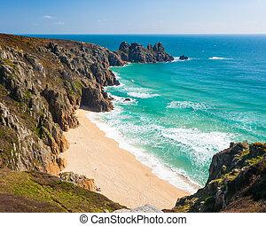 Pedn Vounder Beach Cornwall - Overlooking Pedn Vounder Beach...