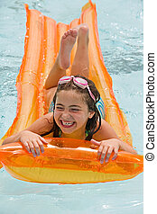 Girl Laughing Having Fun