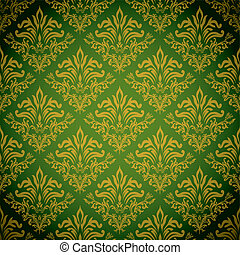 golden green repeat - Green and gold background with a...