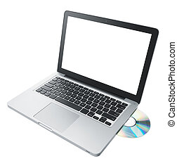 computer - laptop computer isolated on white background