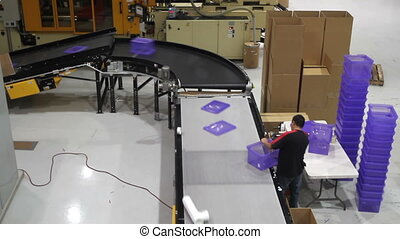 Assembly Line Worker Time Lapse - A time lapse of a factory...