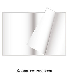 magazine curl - Magazine with white blank pages and a page...
