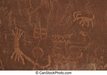 Petroglyphs - Ancient stone carvings, Valley of Fire