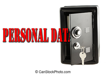 Personal Data protection - Words Personal Data entering a...