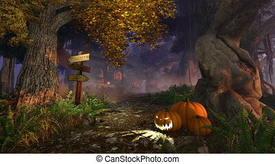 Haunted House - Realistic 3D animation of a mystic forest...