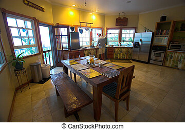 Kitchen - Well equipped kitchen room in Hawaii bed and...