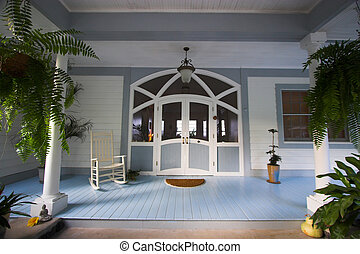 Enrance - Vacation home front porch in bed and breakfast...