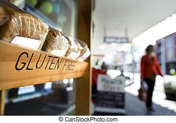 Gluten Free Diet - AUCKLAND, NZ - OCT 09:Woman pass by...