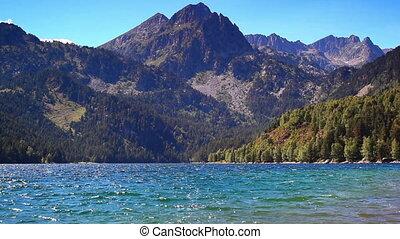 Mountain lake in Pyrenees.