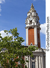 Lambeth Town Hall in Brixton, London - The impressive...