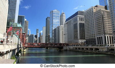 Chicago River Time Lapse - A time lapse of busy Chicago,...