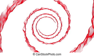 Red spiral on white - Red spiral rotation on white...