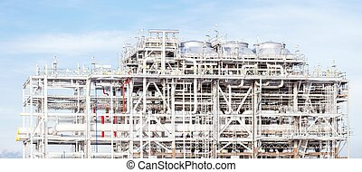 Panorama of LNG Refinery plant - Panorama Assembling of...