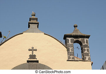 Curch Roof - A Roof of an Old Church in La Laguna, Spain