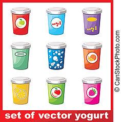 Set Of Yogurt