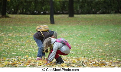 Playful kids - Joyful siblings having fun in the park