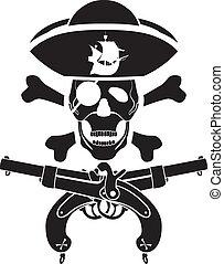piracy symbol with skull