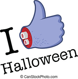 Halloween Like/Thumbs Up symbol, vector Eps 10 illustration....