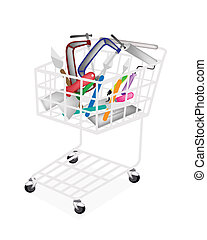 A Set of Builder Tools in Shopping Cart - A Shopping Cart...