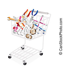Auto Repair Tool Kits in Shopping Cart - A Shopping Cart...