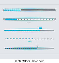 Loading... - Vector illustration of Loading...