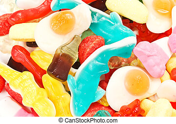 a pile of candies - variety of candies assembled