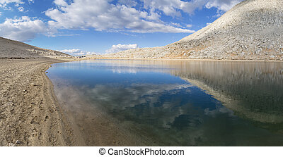 Summit Lake - panorama of Summit Lake near Mono Pass in the...