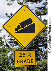 Steep Road Sign
