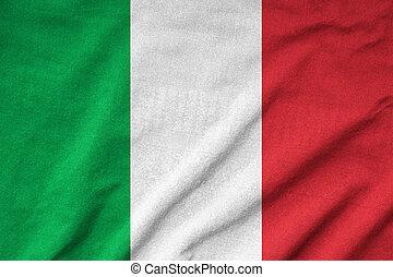 Ruffled Italy Flag