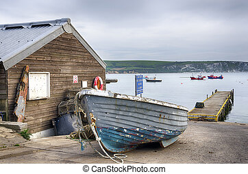 Boats at Swanage - Fishing boats on the quayside at Swanage...