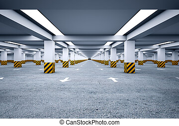 Underground parking with no cars