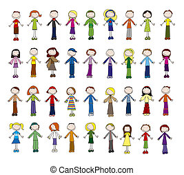 Little people - 36 different boys and girls