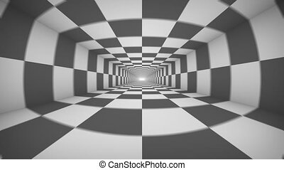 Black and white abstract tonnel repeatly - Black and white...