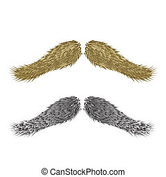 abstract vintage mustaches - colorful illustration with...