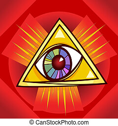 eye of providence illustration - Eye of Providence Cartoon...