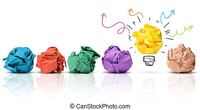 Have an idea - Concept of idea with colorful crumpled paper