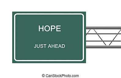 Road sign to hope