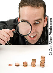 Rising Investments - A man watching his lucrative...