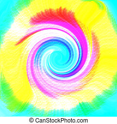 Tie-dye Swirl - A psychedelic tie-dye pattern is featured in...