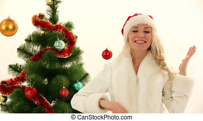 Christmas emotions - Woman expressing different emotions