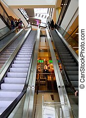 Escalators at the mall - Escalators from the biggest...
