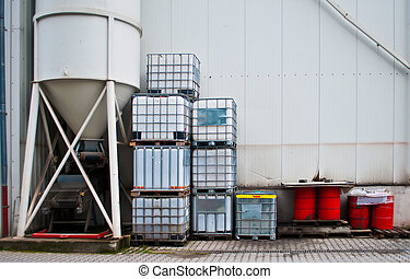 Silo, drums and container