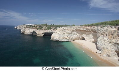 Praia de Benagil beach on atlantic coast, Algarve, Portugal