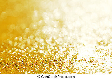 Christmas glittering background - Golden Christmas bright...