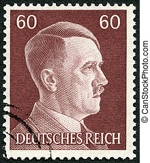 GERMANY - 1941: shows Adolph Hitler 1889-1945 - GERMANY -...