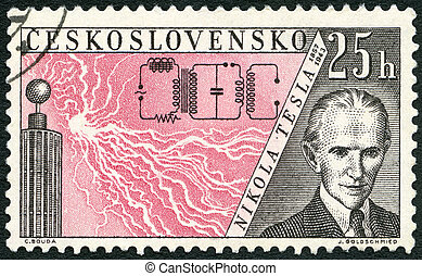 CZECHOSLOVAKIA - CIRCA 1959: A stamp printed in...