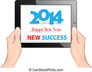 Happy new year 2014 with ipad