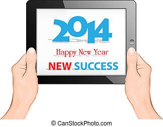 Happy new year 2014 with ipad