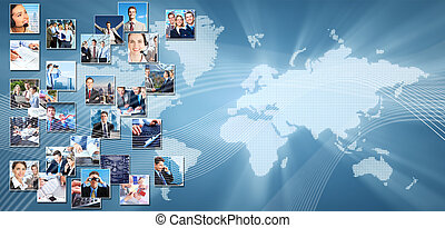 Business collage background.
