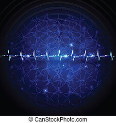cardiogram - Cardiogram abstract wallpaper. Medical...